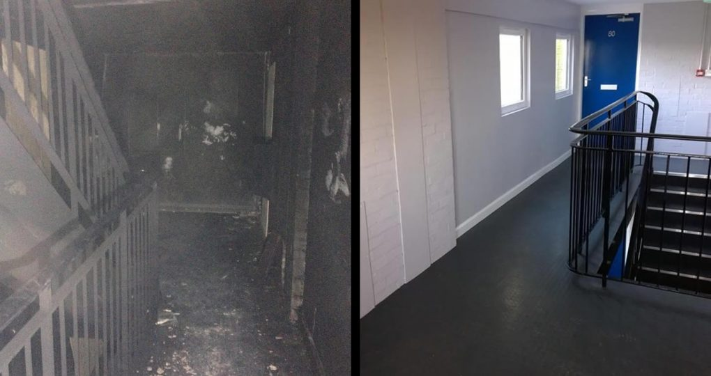 fire damage repairs - Skegness housing association