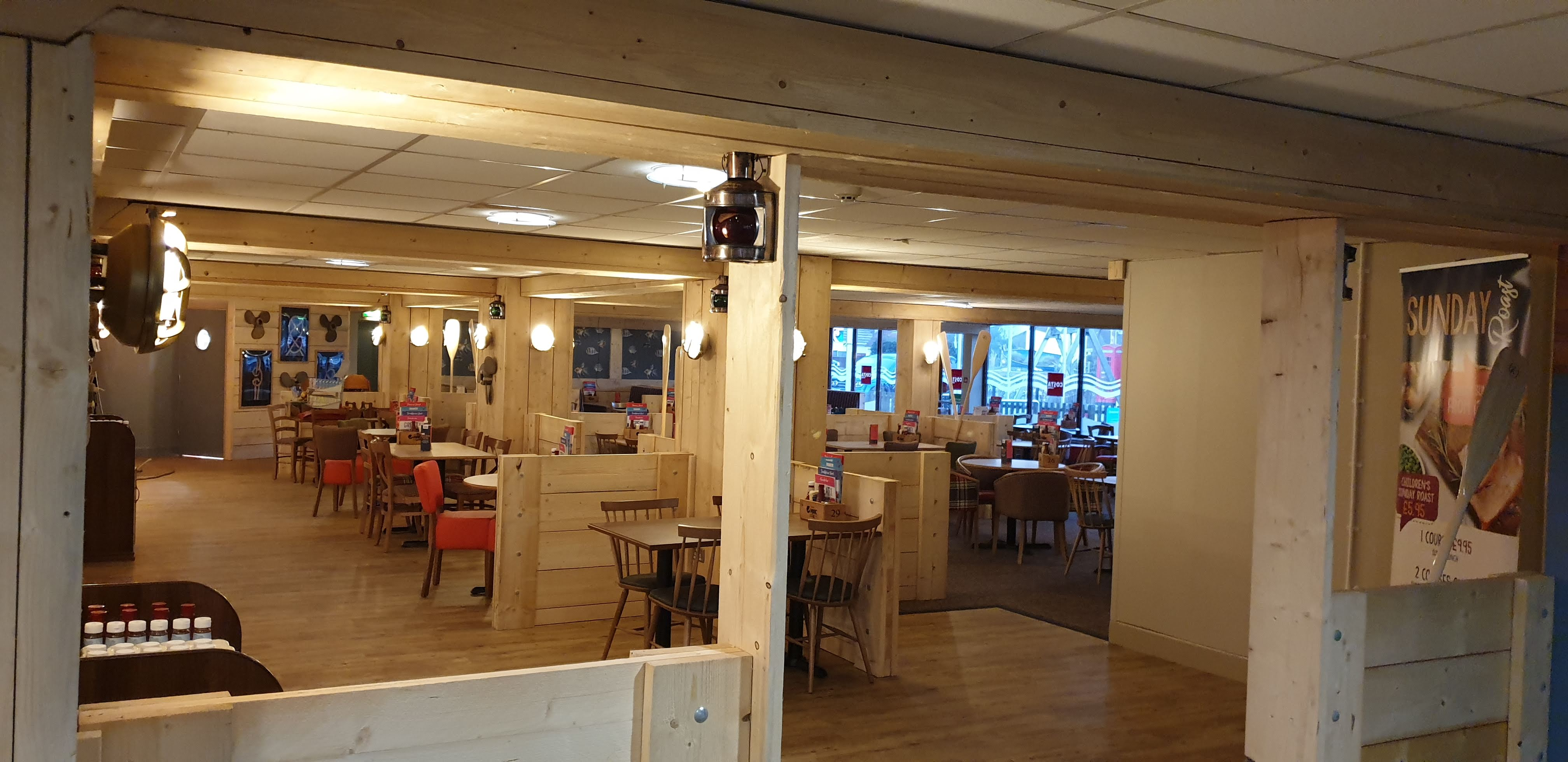 restaurant refurbishment Sandford Holiday Park