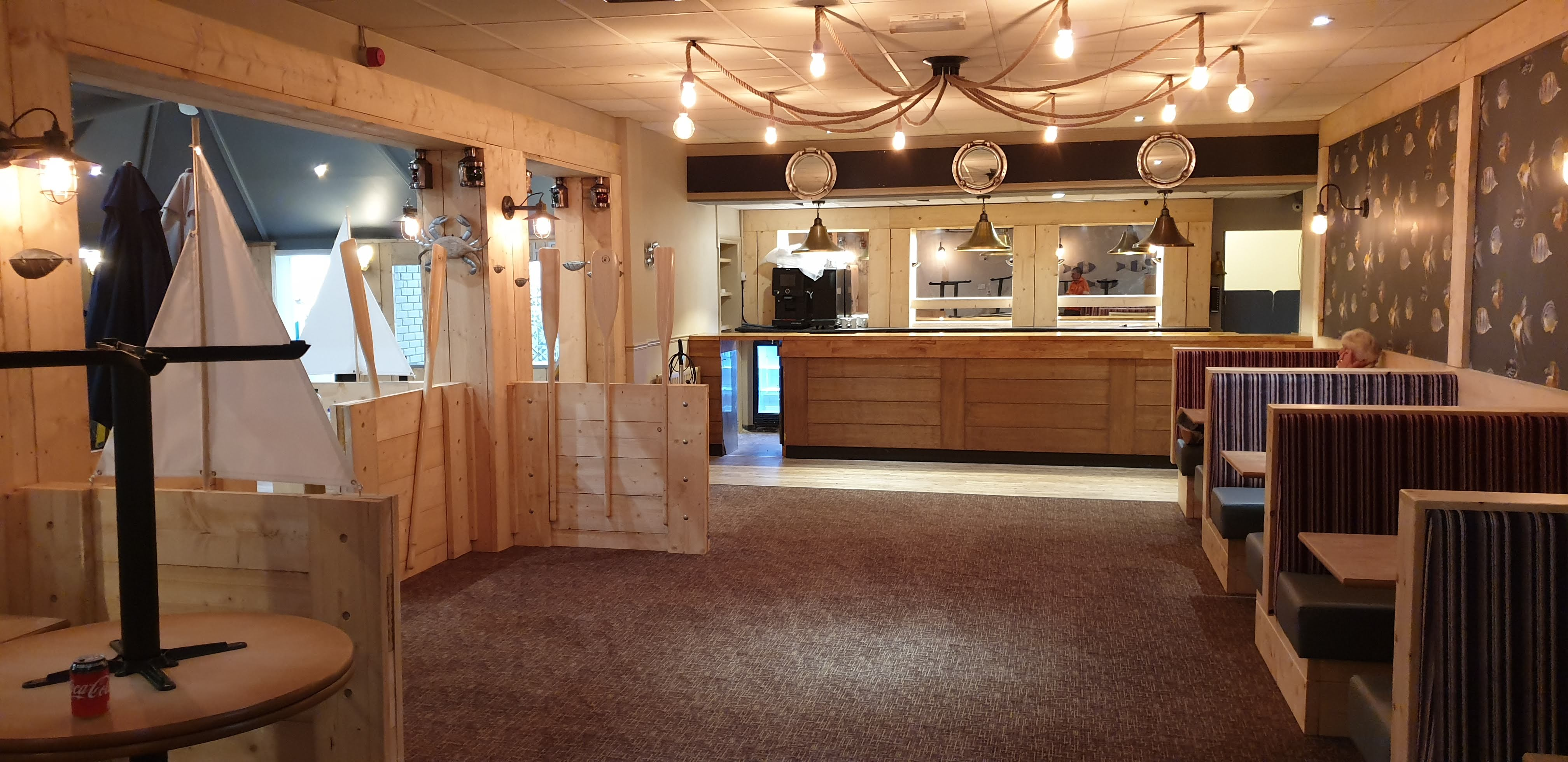 restaurant refurbishment Westbay Holiday Park