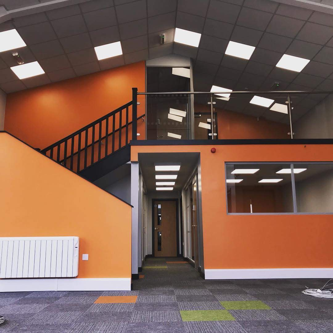 warehouse to office conversion mezzanine