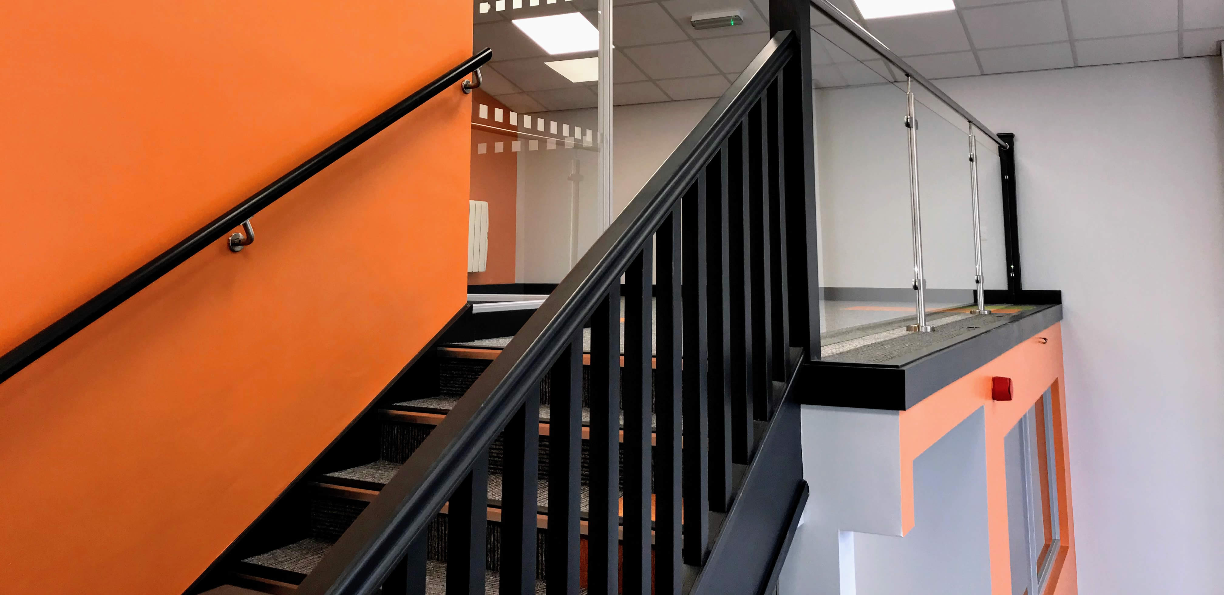 warehouse to office conversion stair detail