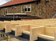 Extension Louth Lincs Phase 2 Construction roof section